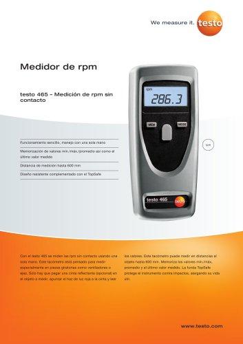 Medición de rpm sin contacto - testo 465
