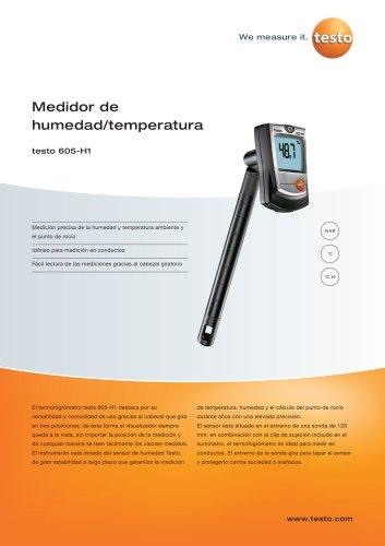 Medidor de humedad/temperatura - testo 605-H1