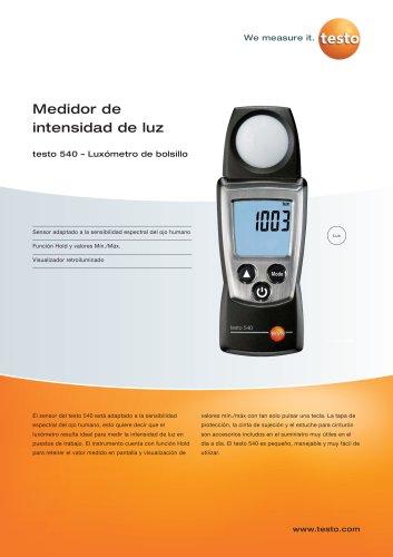 Medidor de intensidad de luz - testo 540