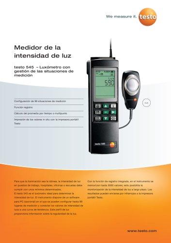 Medidor de la intensidad de luz - testo 545