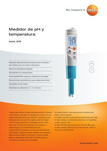 Medidor de pH y temperatura - testo 206