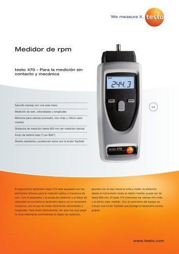 Medidor de rpm - testo 470