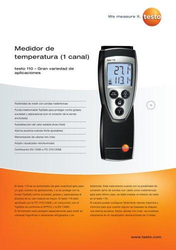 Medidor de temperatura (1 canal) - testo 110