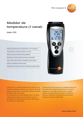 Medidor de temperatura (1 canal) - testo 720