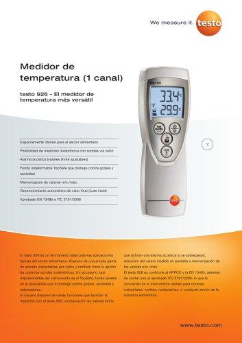 Medidor de temperatura (1 canal) - testo 926
