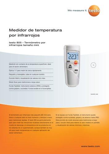 Medidor de temperatura por infrarrojos - testo 805