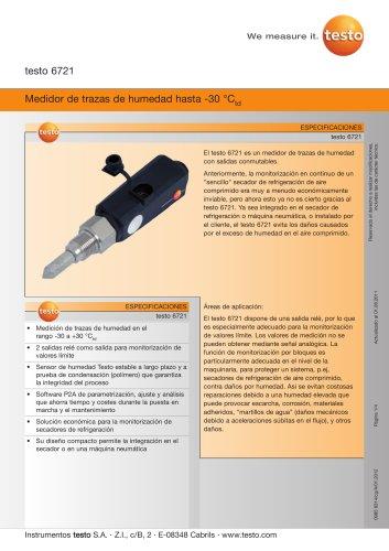 Medidor de trazas de humedad hasta -30 °Ctd - testo 6721