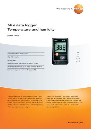 Mini data logger Temperature and humidity - testo 174H