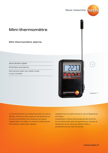 Mini termómetro alarma