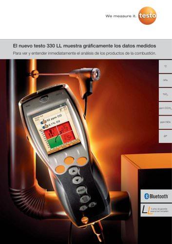 El nuevo testo 330 LL muestra gráficamente los datos medidos