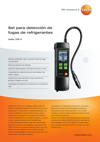Set para detección de fugas de refrigerantes