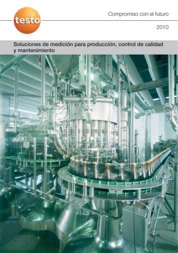 Soluciones de medición para producción, control de calidad y mantenimiento