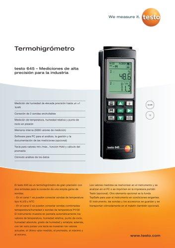 Termohigrómetro - testo 645