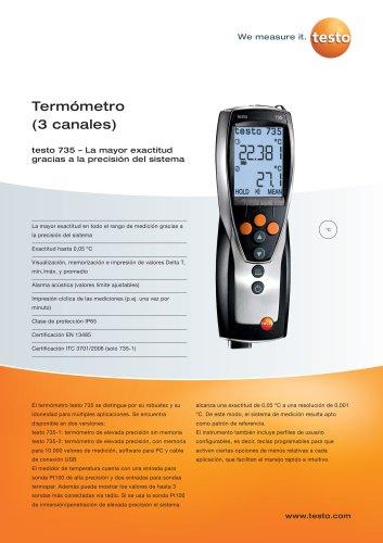 Termómetro (3 canales) - testo 735