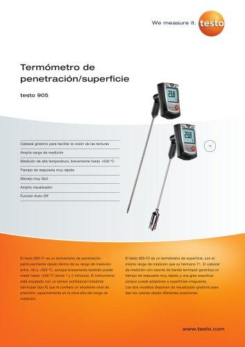 Termómetro de penetración/superficie - testo 905