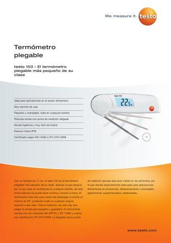 Termómetro plegable - testo 103