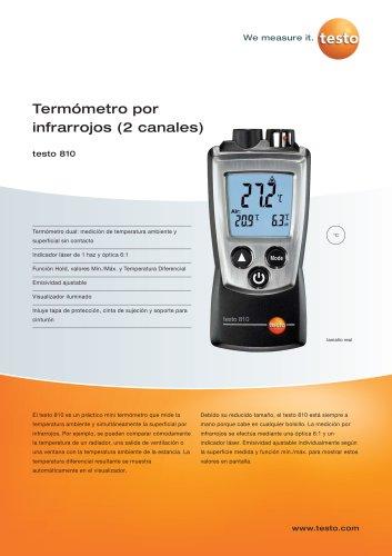 Termómetro por infrarrojos (2 canales) - testo 810