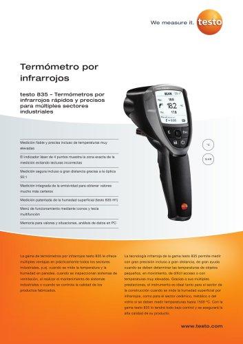Termómetro por infrarrojos - testo 835