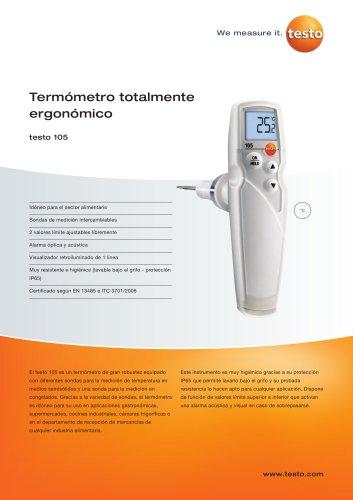 Termómetro totalmente ergonómico - testo 105