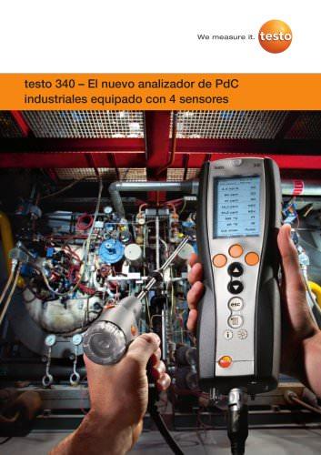 testo 340 – El nuevo analizador de PdC industriales equipado con 4 sensores