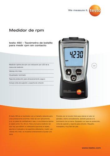 testo 460 – Tacómetro de bolsillo para medir rpm sin contacto