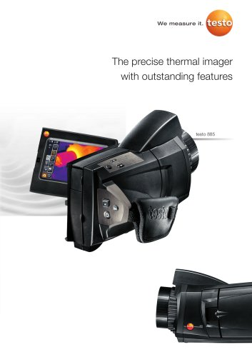 The precise thermal imager with outstanding features - testo 885