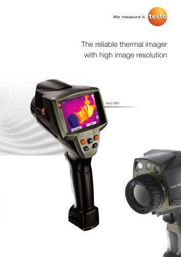 The reliable thermal imager with high image resolution - testo 882