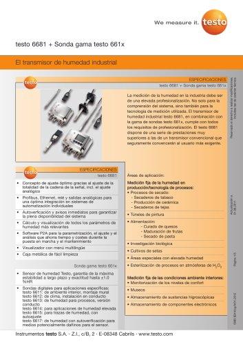El transmisor de humedad industrial - testo 6681