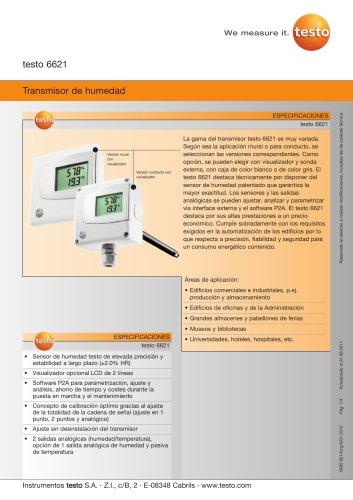 Transmisor de humedad - testo 6621