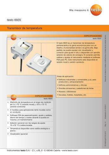 Transmisor de temperatura - 6920
