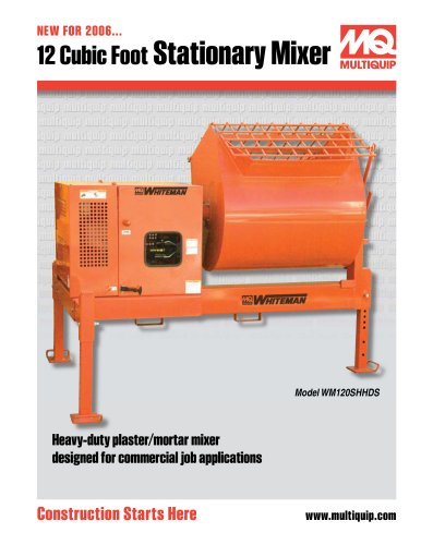 12 Cubic Foot Stationary Mixer
