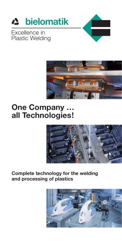 Complete technology for the welding and processing of plastics