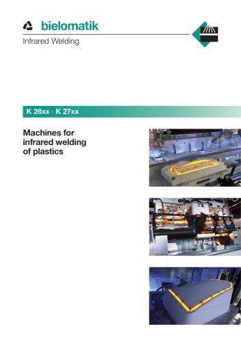 Machines for infrared welding of plastics