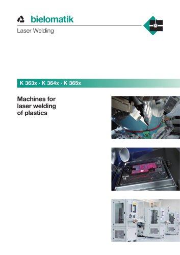 Machines for laser welding of plastics
