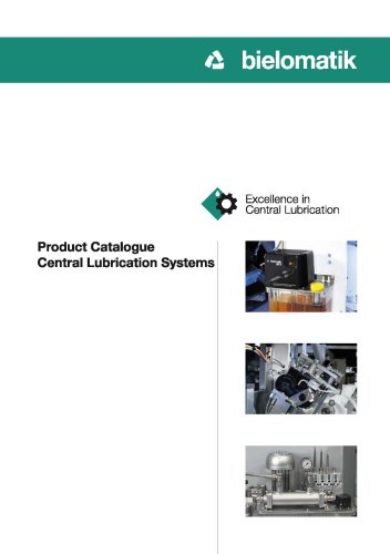 Product Catalogue Central Lubrication