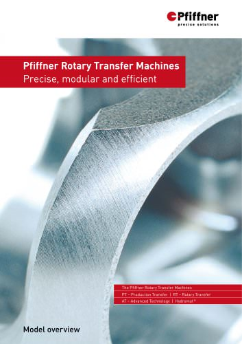 Pfiffner Rotary Transfer Machines