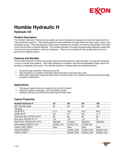 Humble Hydraulic H