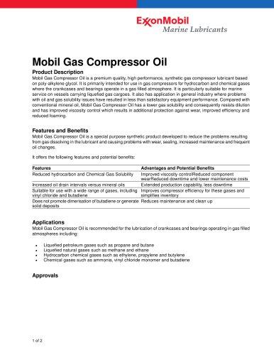 Mobile Gas Compressor Oil