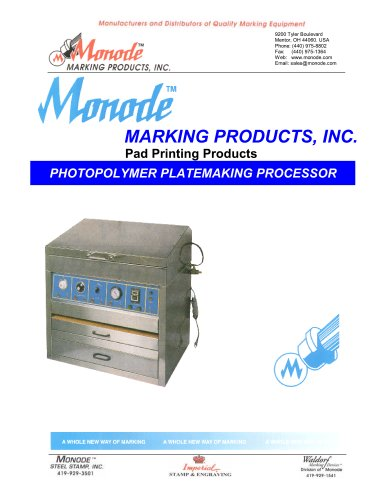 Monode Model PPP  Designed for processing photopolymer pad printing cliches.