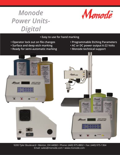 Monode Power Units- Digital