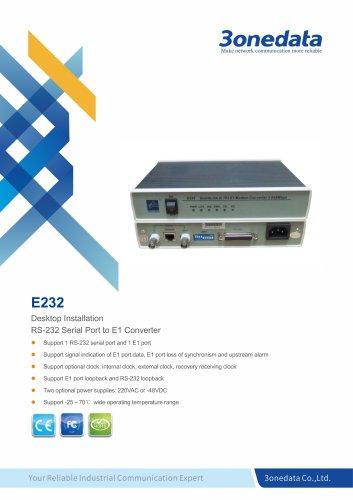 3onedata | E232 | RS-232 to E1 Converter