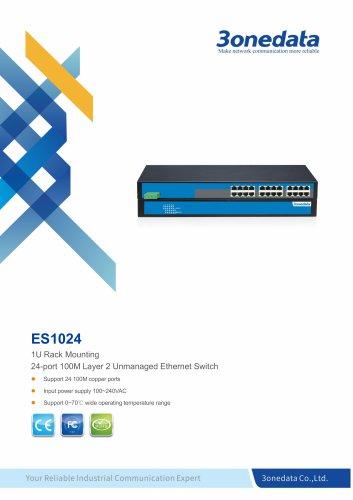 3onedata | ES1024 | Unmanaged | Rackmount | 24 ports Ethernet Switch