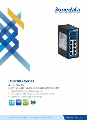 3onedata | ES2010G | Unmanaged | DIN-rail | 8 ports Gigabit Ethernet Switch with 2 Fiber ports