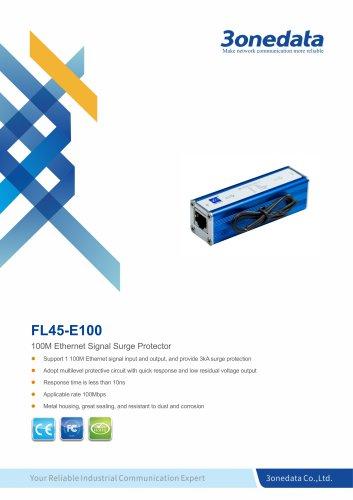 3onedata | FL45 | 100M Ethernet Signal Surge Protector