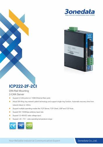 3onedata | ICP222-2F-2CI | 2-port CAN Bus to 2-port Fiber Converter
