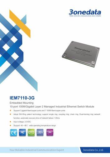 3onedata | IEM7110-3G | 7+3G-port Embedded Industrial Ethernet Switch Module