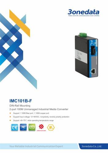 3onedata | IMC101B-F | Ethernet to Fiber Converter | 1 port Industrial Media Converter