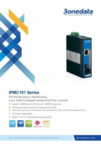 3onedata | IPMC101 | 2-port Industrial PoE Media Converter