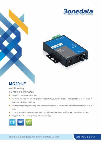 3onedata | MC201 | 1-port CAN Bus to Fiber Converter