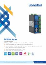 3onedata | MES600 | IEC61850 | Managed | DIN-rail | 8 ports Industrial Ethernet Switch with 4 Serial ports | Electric Power System